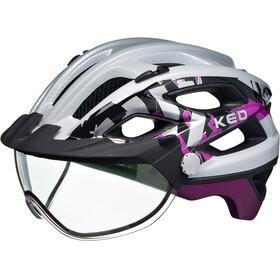 KED Covis - Casco de bicicleta - violeta/blanco